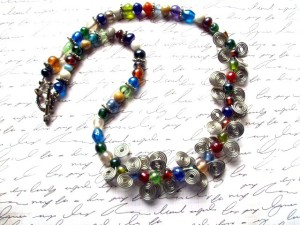 Rainbow Confetti is one of Cutie Patootie Beads' favorite pieces in her shop.