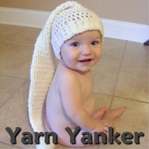 Would I look that cute in a Yarn Yanker knit hat?