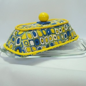 A beautiful covered butter dish by Mydesigncollectibles.